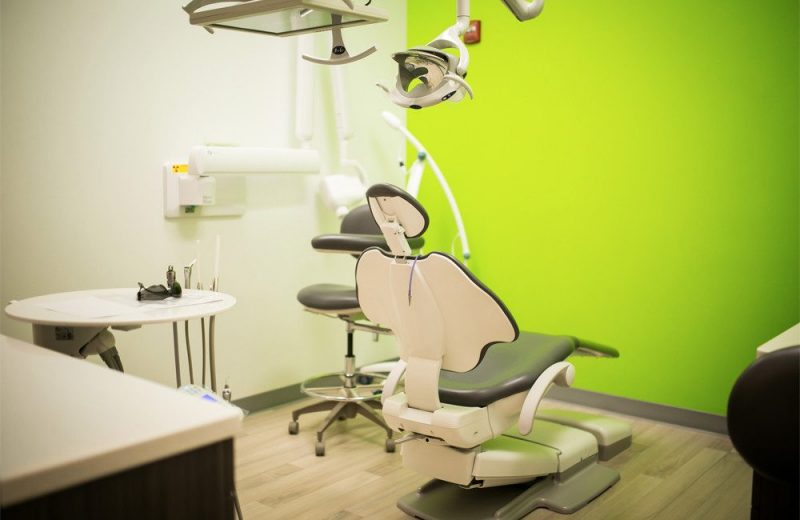 dental examination room of costa family and cosmetic dentistry