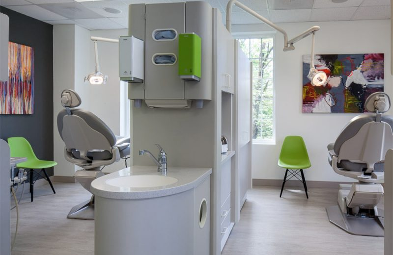 costa family and cosmetic dentistry examination rooms