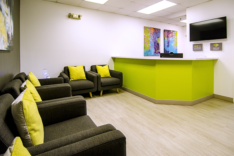 costa family and cosmetic dentistry patient waiting room